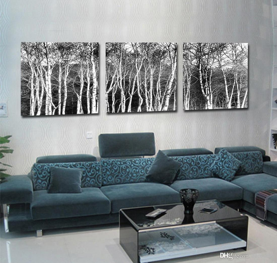 Modern Fine Abstract Tree Painting Giclee Print On Canvas Wall Art Home Decoration Set30178
