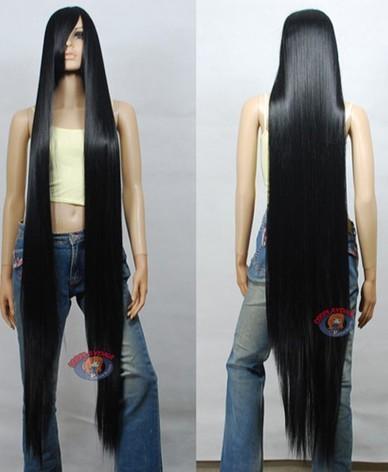 150 cm long straight wig black purple red white silver green BLUE Nature Hair Women's Anime Medium Hair no lace Fiber All wigs
