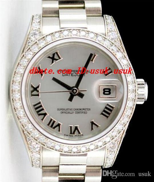 Luxusuhren Armbanduhr Damen Dame 179159 Römisches Zifferblattuhr Automatische Mechanische Uhr Armbanduhr Frauen Sportuhren