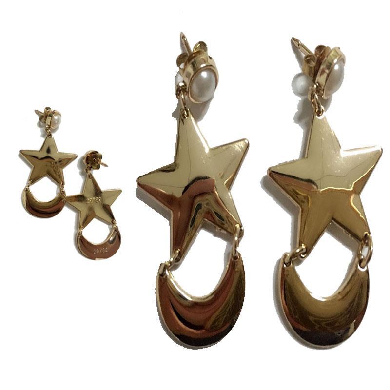 Hot Anime SAILOR MOON Crescent Star Dangle EARRINGS Cosplay COSTUME NEW Pierced Clip Accessories Metal Halloween/ Chrismas