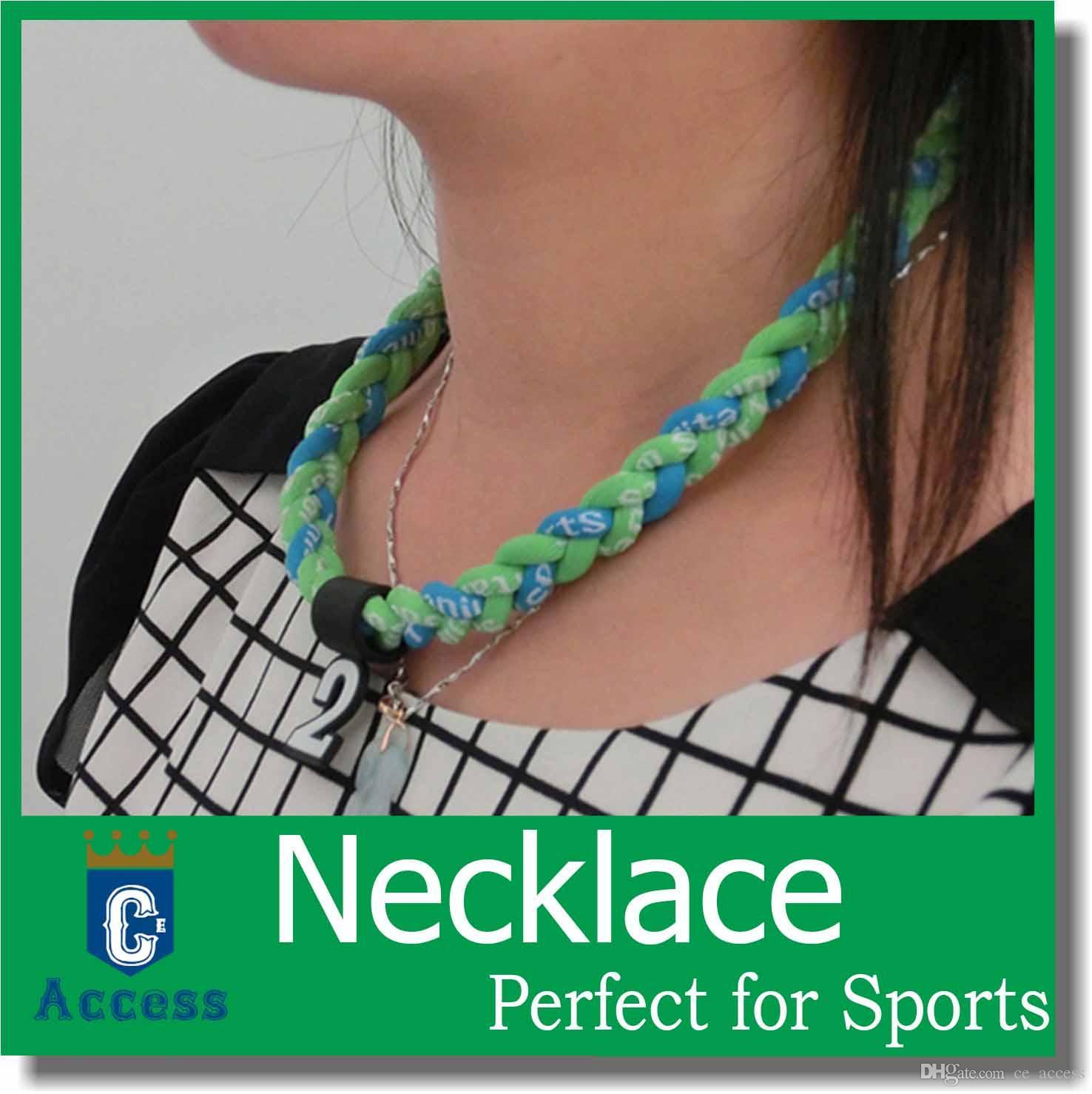 Chaud!! Nouveaux colliers ioniques en titane de baseball pour le sport, livraison gratuite pour DHL