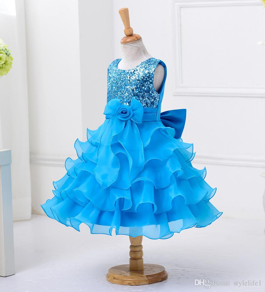 Babydoll Dress Pageant Party Dresses Girl, Performance Shows Dress ...