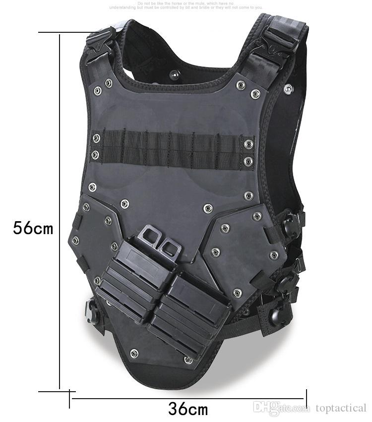 Trasformatore Sport all'aria aperta Body Protective Armor, Combat Assault Waistcoat Molle modulare Tactical Vest, Hard Armor Plate Carrier