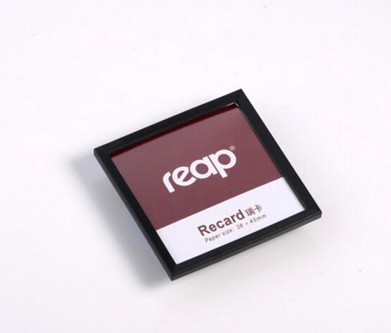 Colher 100 pcs 45 * 45mm rodada PIN exposição loja trabalhador empregado ID nome titular do cartão de marca quadro broche de crachá