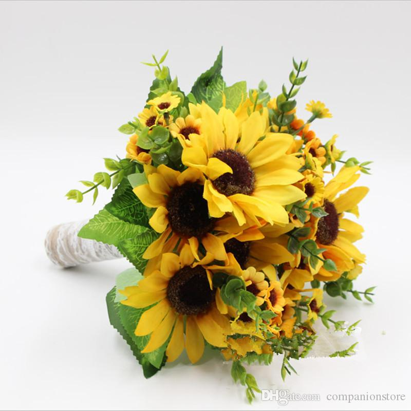 Fiori Gialli Bouquet.Acquista Bouquet Di Fiori Gialli Freschi Di Girasole Fiori