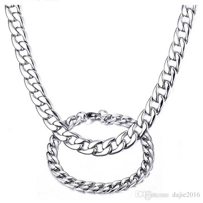 Hochwertige Männer Frauen 316L Edelstahl Chunky Gliederkette Halskette 4 Typen
