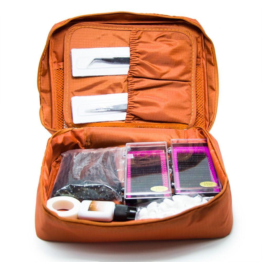 Atacado-Novo Professional Kit de Extensão de Cílios Portáteis Falso EyeLash Lashes Maquiagem Set, kit de extensão de cílios