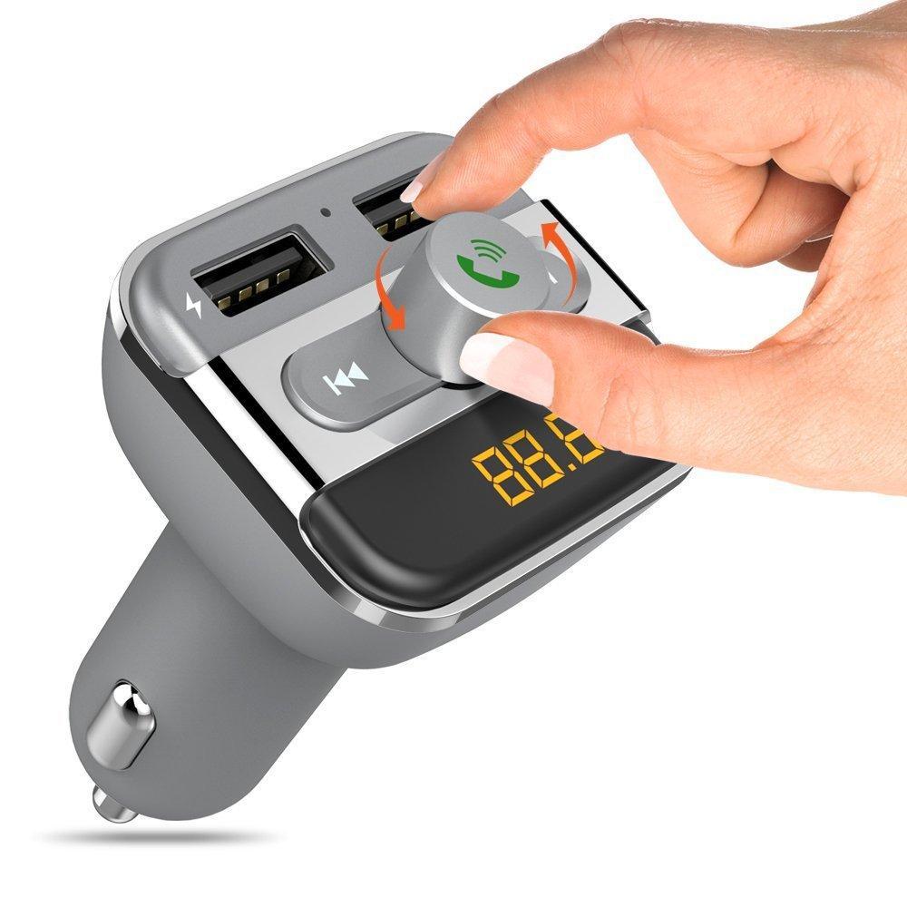 Bluetooth Araç FM Verici Kablosuz Radyo Adaptörü USB Şarj Mp3 Çalar