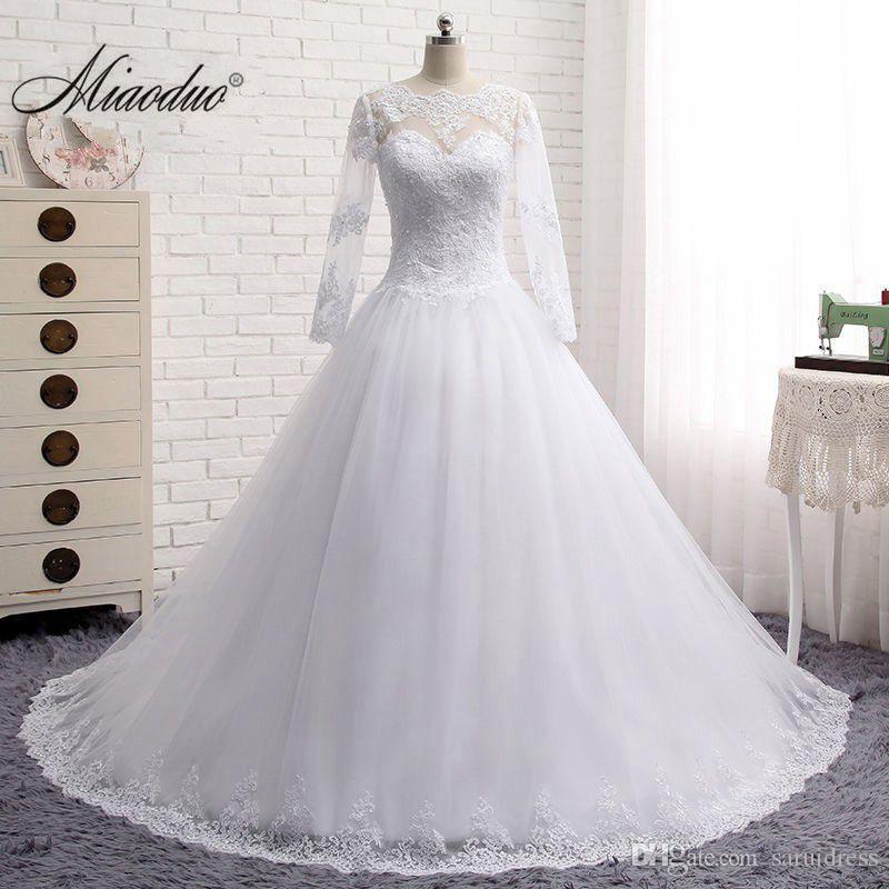 Vestidos De Novia Long Sleeve Lace Suknia Ślubna Suknia Balowa Robe De Mariage Lebanon Suknie ślubne