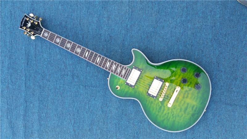 Gute Günstigen Preis China Benutzerdefinierte E-gitarre Weiß Block Perle Inlay Solide Mahagoni Körper Linkshänder Verfügbar