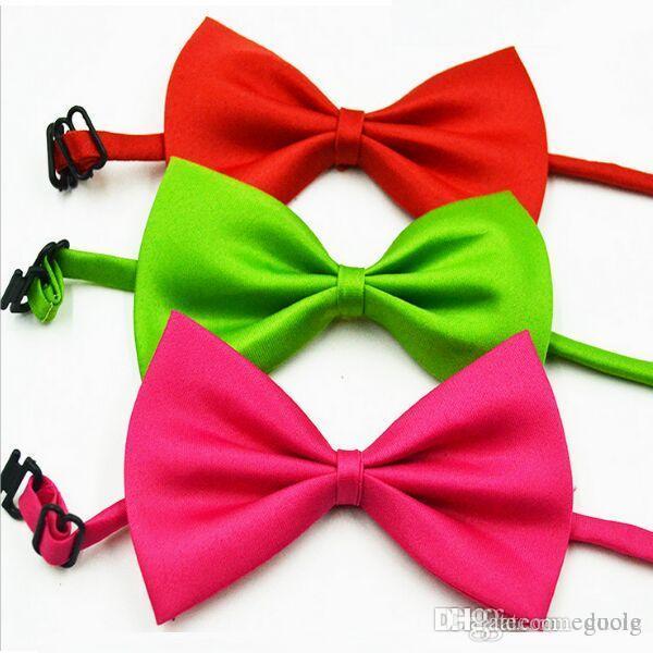 Gravata borboleta 19 cores Bebê bowknot com Sacos de OPP Empate para o menino menina gravatas Presente de Natal Livre FedEx TNT