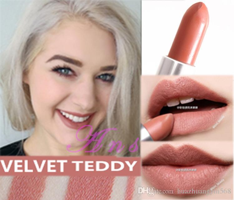 Livraison gratuite ! 1pcs Nouvelle marque Maquillage Matte Lipstick Velvet Teddy Lipstick 3G Venez avec une boîte