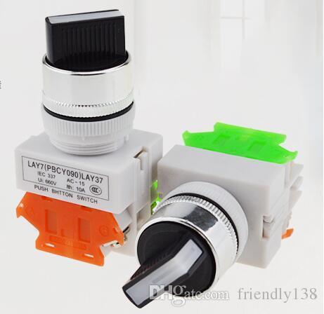 Вращающиеся переключатели 10A 1NO 1nc 22mm диаметр 2 или 3 Положения поддерживали переключатели 10PCS LAY37-11X/2 11X / 3
