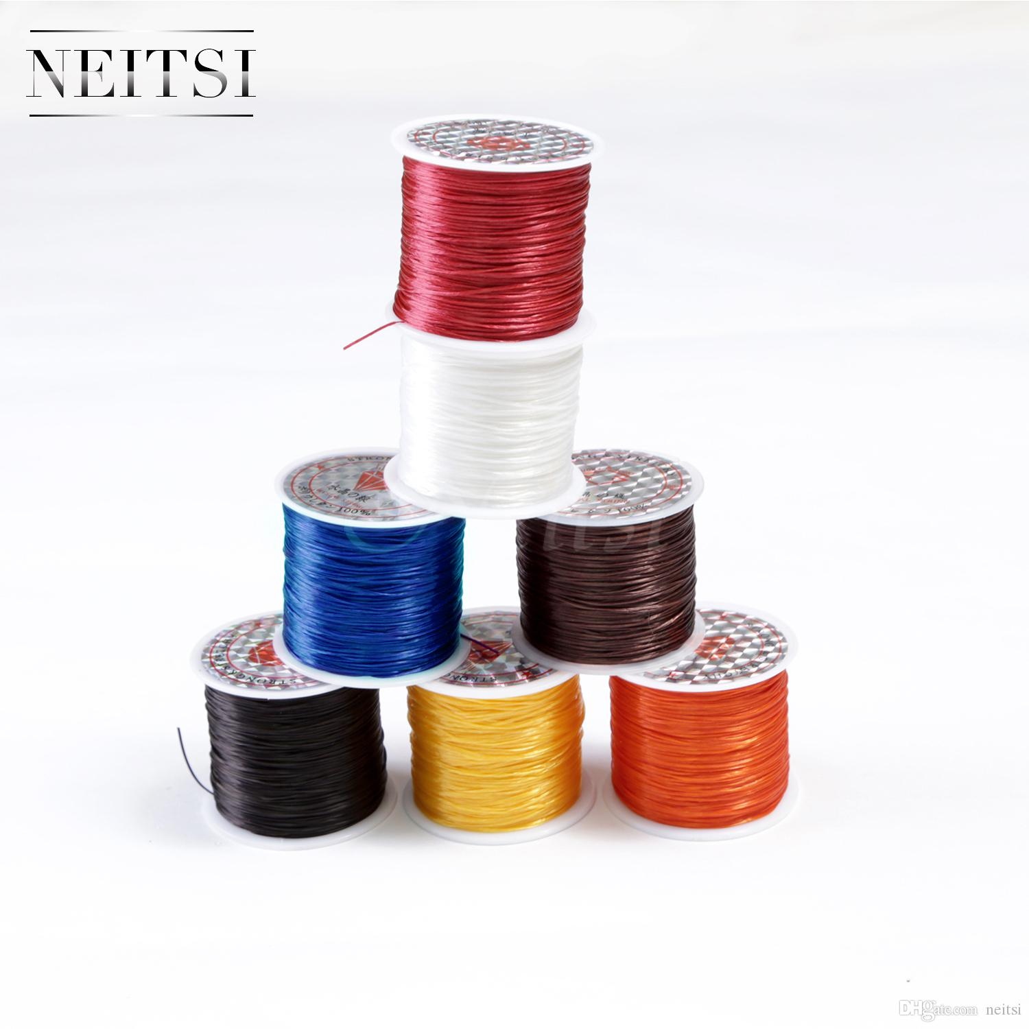 Neitsi 50 Meters 10pcs/lot 4Colors Crystal Elastic Thread Stretchy Cord String Sewing Thread Polyester Tools Thread Hair Accessories