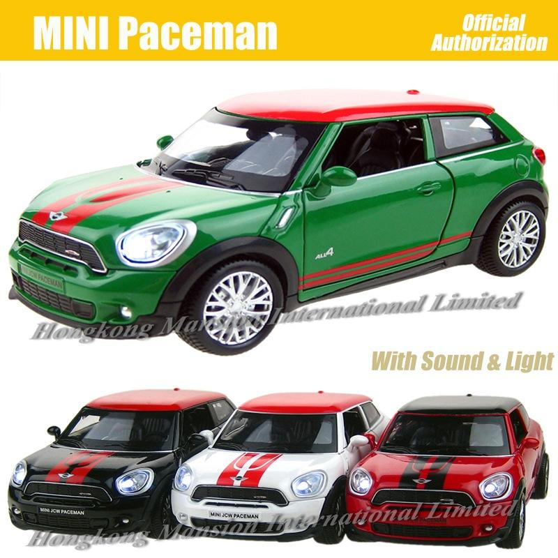 1:32 Scale Diecast Alloy Metal Car Model For MINI Paceman Collection Model Pull Back Toys Car With Sound&Light