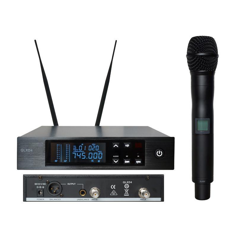 Qualité supérieure 740-765 MHz !! Microphone sans fil True Diversity UHF Profession QLXD24 / QLXD2 QLXD4 sans fil