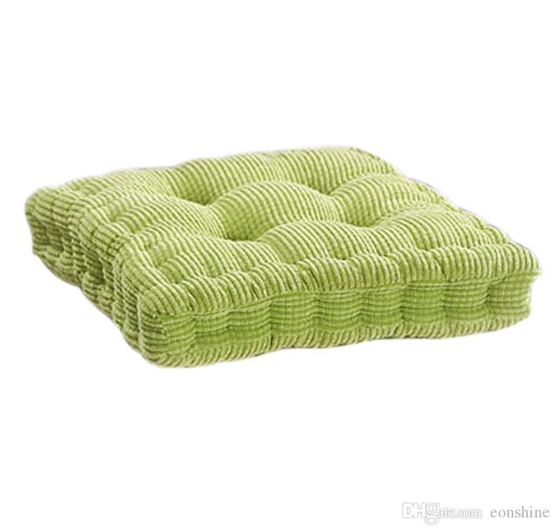 Обновление площади полиэстер заполнены крытый открытый стул Pad подушка для домашнего офиса обеденный стул, сплошной цвет (15,7 x 15,7 дюйма, Coduroy крышка)