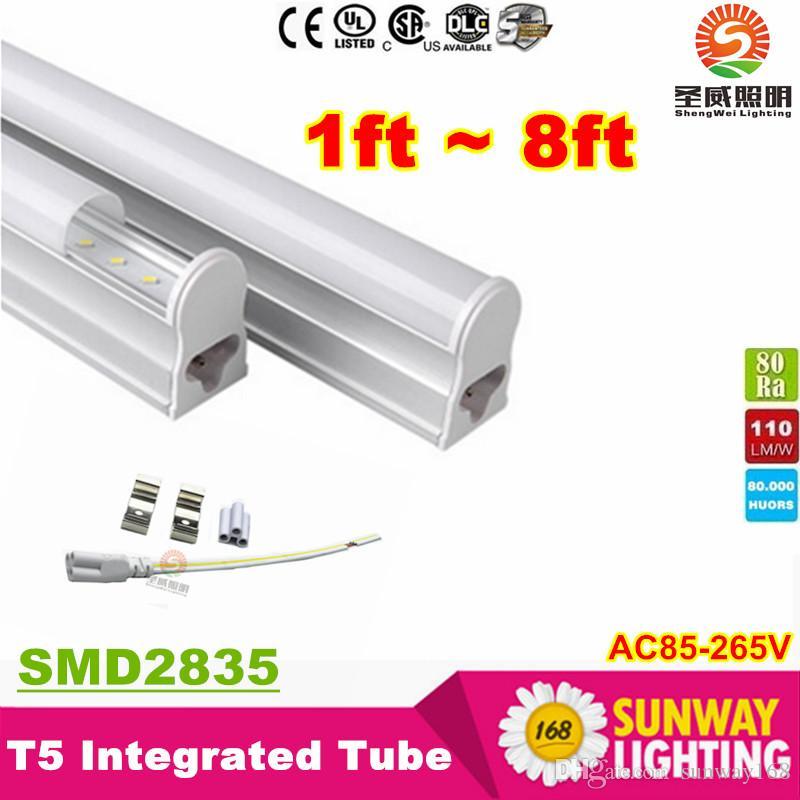 T5 4FT 1200mm Led Tubos 22W 1,2 m Tubo Integrated Led Lámpara fluorescente 96LEDs SMD2835 CRI85 AC 85-265V + CE ROHS UL SAA