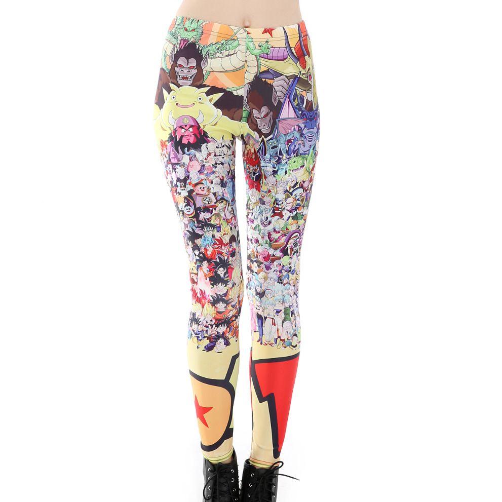 Compre Dragon Ball Legging Impressão Legging Anime Dos Desenhos Animados Para Meninas Impressão Naruto Treino De Fitness Leggins Calças Lápis Casuais