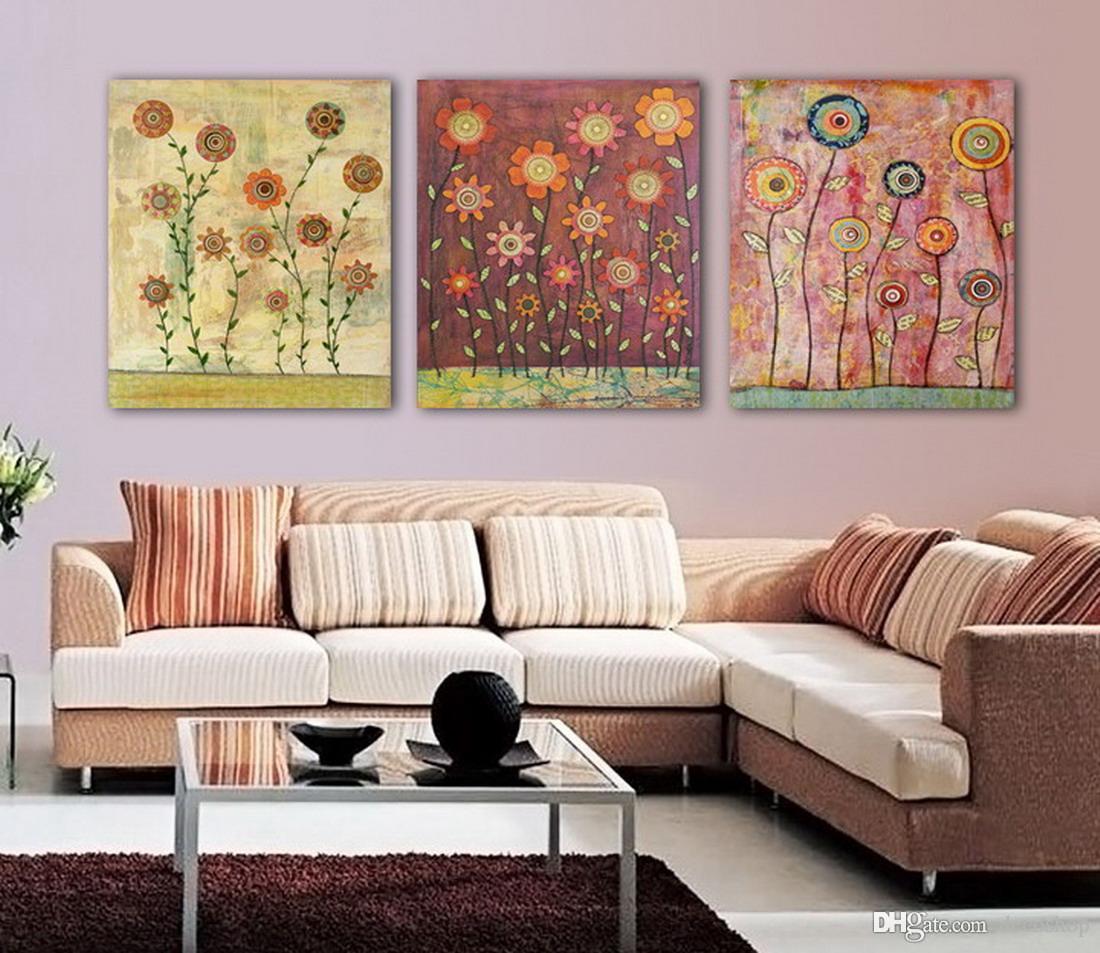 캔버스 홈 장식 벽 예술 Set30164에 현대 아름다운 꽃 좋은 꽃 회화의 giclee 인쇄