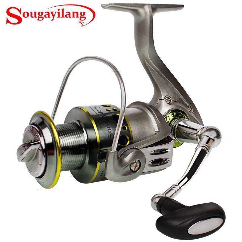 Sougayilang SG2000-5000 Series Fishing Reels Spinning With 12+1BB Bearing Balls Metal Body Fishing Reel Saltwater Freshwater