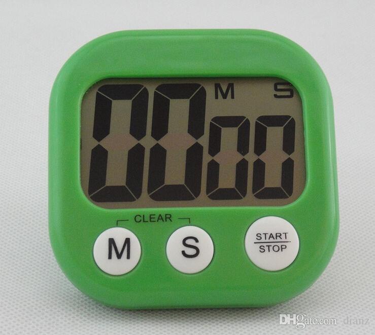 Nouvelle arrivée grand écran LCD cuisine numérique minuterie de cuisson compte à rebours jusqu'à horloge forte alarme magnétique
