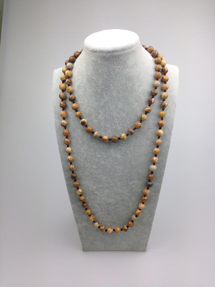 Stone beaded necklace