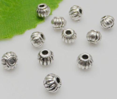 Geben Sie Schiff frei 1000Pcs tibetischen Silberlegierung Spacer Perlen für Schmuckherstellung 4x5mm
