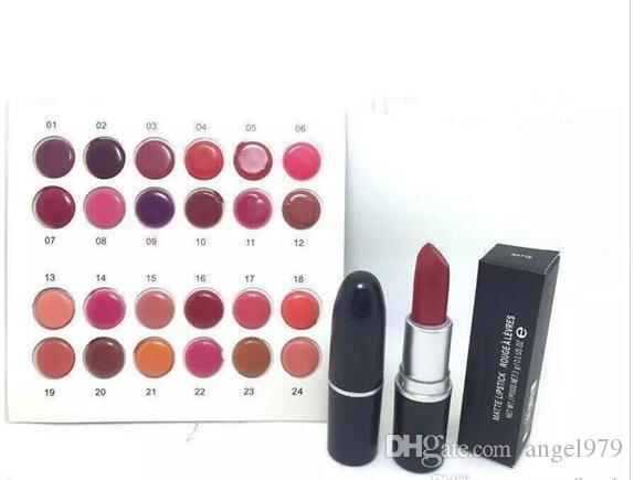 무료 배송 24 개 무료 배송 새로운 24 가지 색상 립스틱