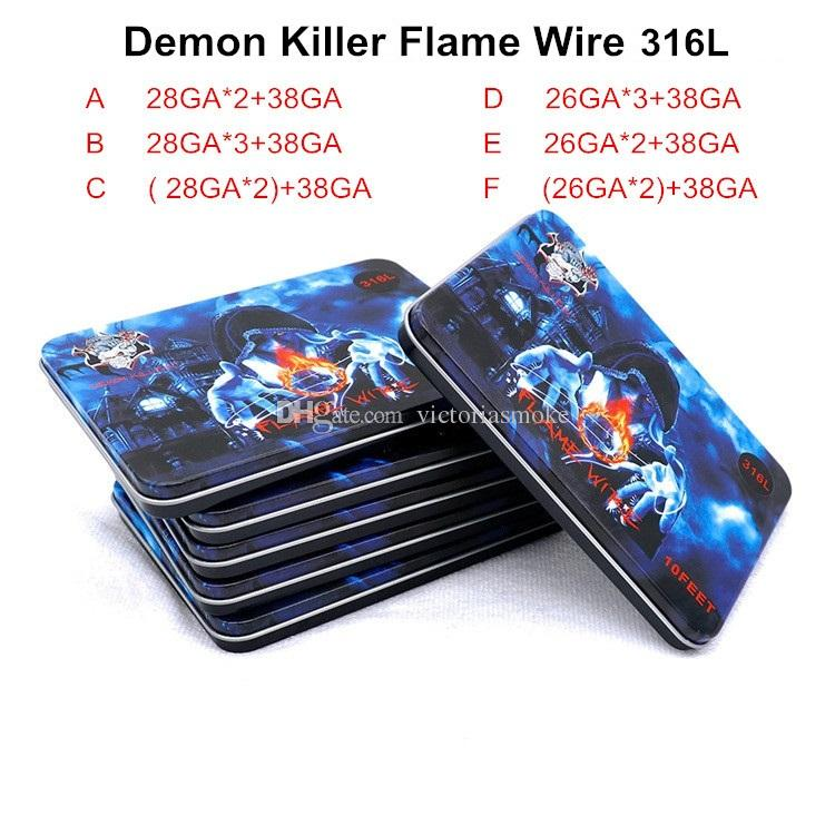 Großhandel Dämon Killer Flammen Draht 10feet Prebuilt Spule Ss 316l ...