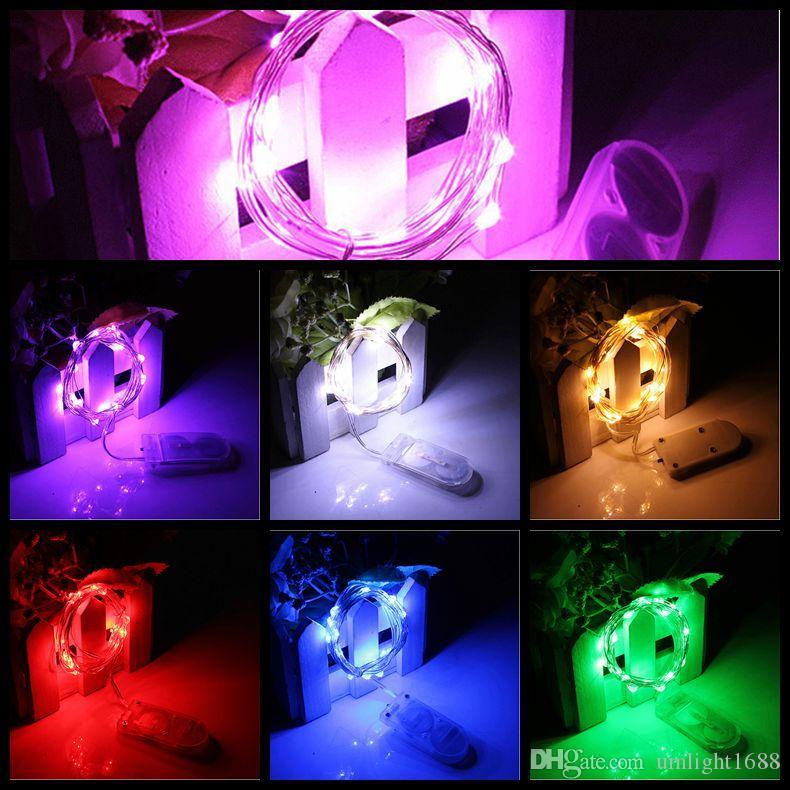 Weihnachtsbeleuchtung CR2032 Batteriebetriebene 2m 20LED LED Lichterkette Wasserdichte LED Lichterkette für Partyhochzeit