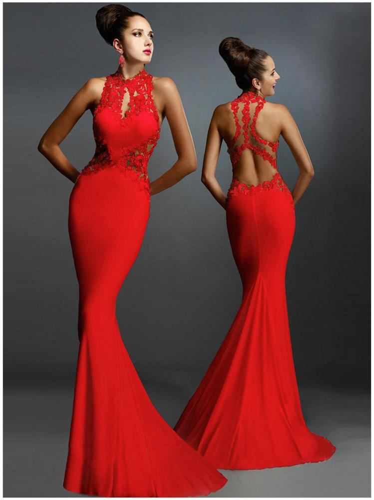 ... Sexy evening dressess Long Black Open Back Prom Bridesmaid Party Evening  Dresses Formal Gown zuhair murad ... 7fc5cffa8