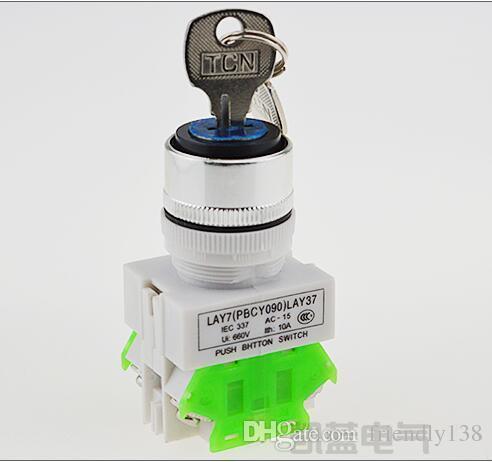 Поворотные переключатели 10А 1НО 1НЗ 22мм диаметр 2 или 3 позиции переключатели с ключом 10шт Y090 LAY37-11Y2 20Y3