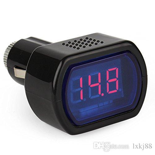 Digital Mini LED 12V / 24V Car Vehicle System Voltmetro Voltage Gauge Volt Meter
