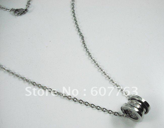 Мода роскошный стиль 316L из нержавеющей стали дамы круглая форма передач резьбовые цепи кулон ожерелья
