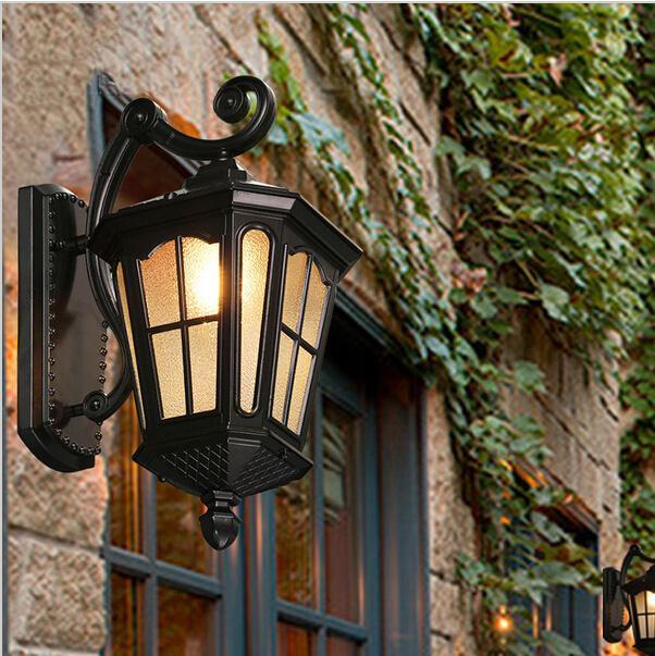 Luces de porche led luces de pared al aire libre luces de exterior luz de pared exterior impermeable para villa lámpara de pared de exterior impermeable led