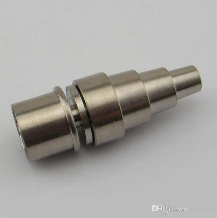 2016 Good price New 10/14/18mm male&female adjustable Grade 2 Titanium Domeless E-Nail Nail for 20mm Enail Coil