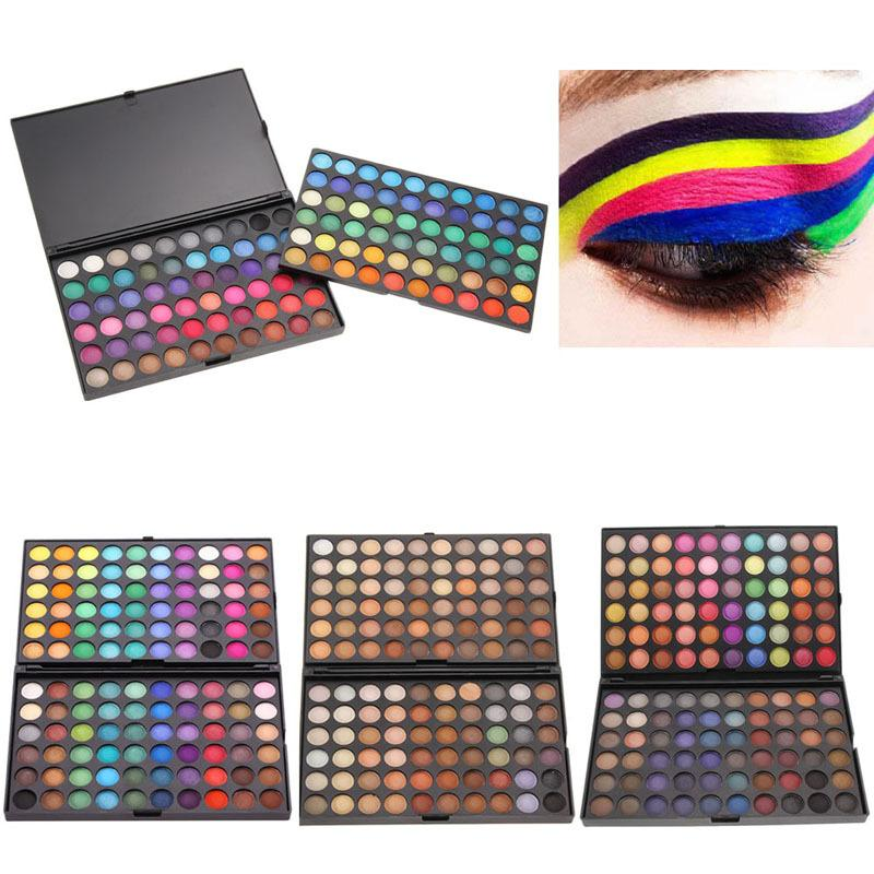 Wholesale- 120 Color Fashion Eye shadow palette Cosmetics Mineral Make Up Makeup Eye Shadow Palette eyeshadow set for women 4 Style Color