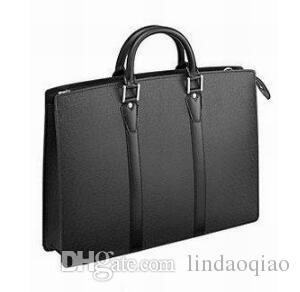 Famous Brand Mens Briefcase Designer Uomo d'affari di alta qualità in vera pelle uomini Borsa Designer Brand UOMINI sacchetto del documento M30052 Vera pelle