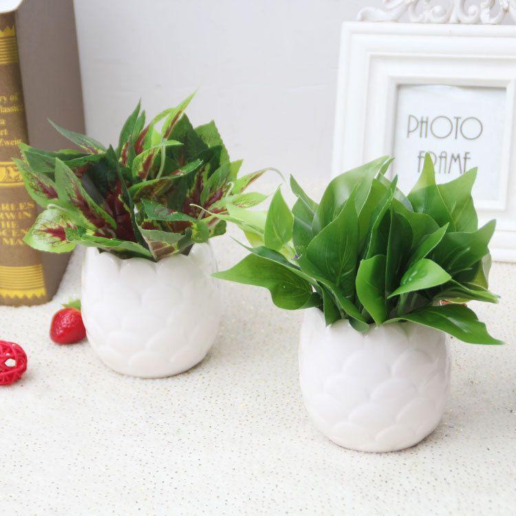 2019 Artificial Cactus Flowers Plants In Pot Home Decor Garden Green