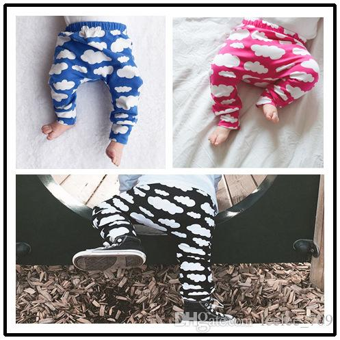 On sale Kids Leggings Pants trousers PP harem Tights Baby legging toddler capris pants Clouds print boy girl clothes baby clothing 3colors