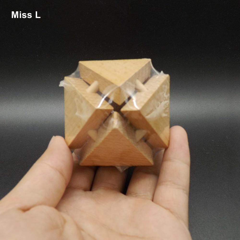 Fun Rhombus Triangle Géométrie Puzzle Ball Kong Ming Lock Intelligence Jeu Cadeau Enseignement Prop Mind Jeu