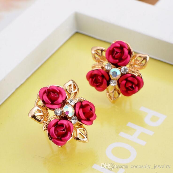 Nowa Moda Biżuteria Design Square Glitter / Flower Słodkie kolczyki, Party Cute Colring, Elegancki Kolczyk, Gorący Kolczyk Factory