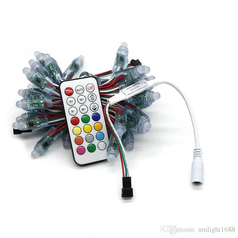 Umlight1688 Mehrfache Quantität DC5V WS2811 führte Pixel-Modul 12mm IP68 imprägniern farbenreiches RGB Schnur-Weihnachts-LED-Licht-freien Prüfer