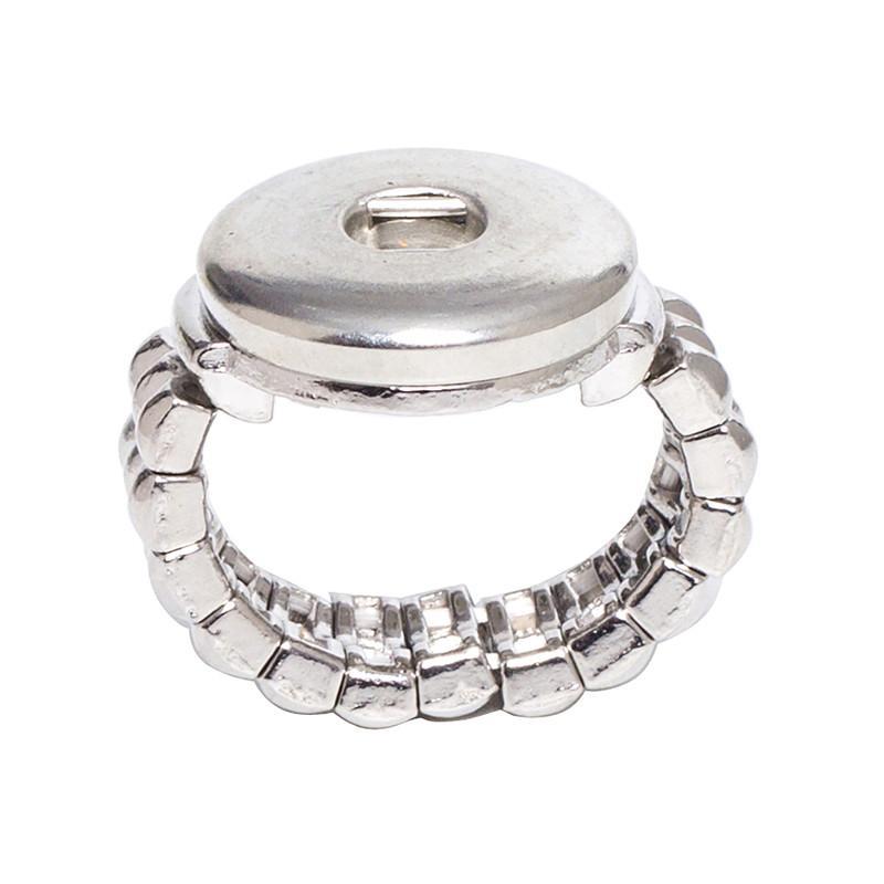 الجملة SR18-5 18 ملليمتر أزرار على المجوهرات 10 قطعة / الوحدة الأزياء حبل مرن نمط التقط زر الدائري (bt-001 * 10) شحن مجاني