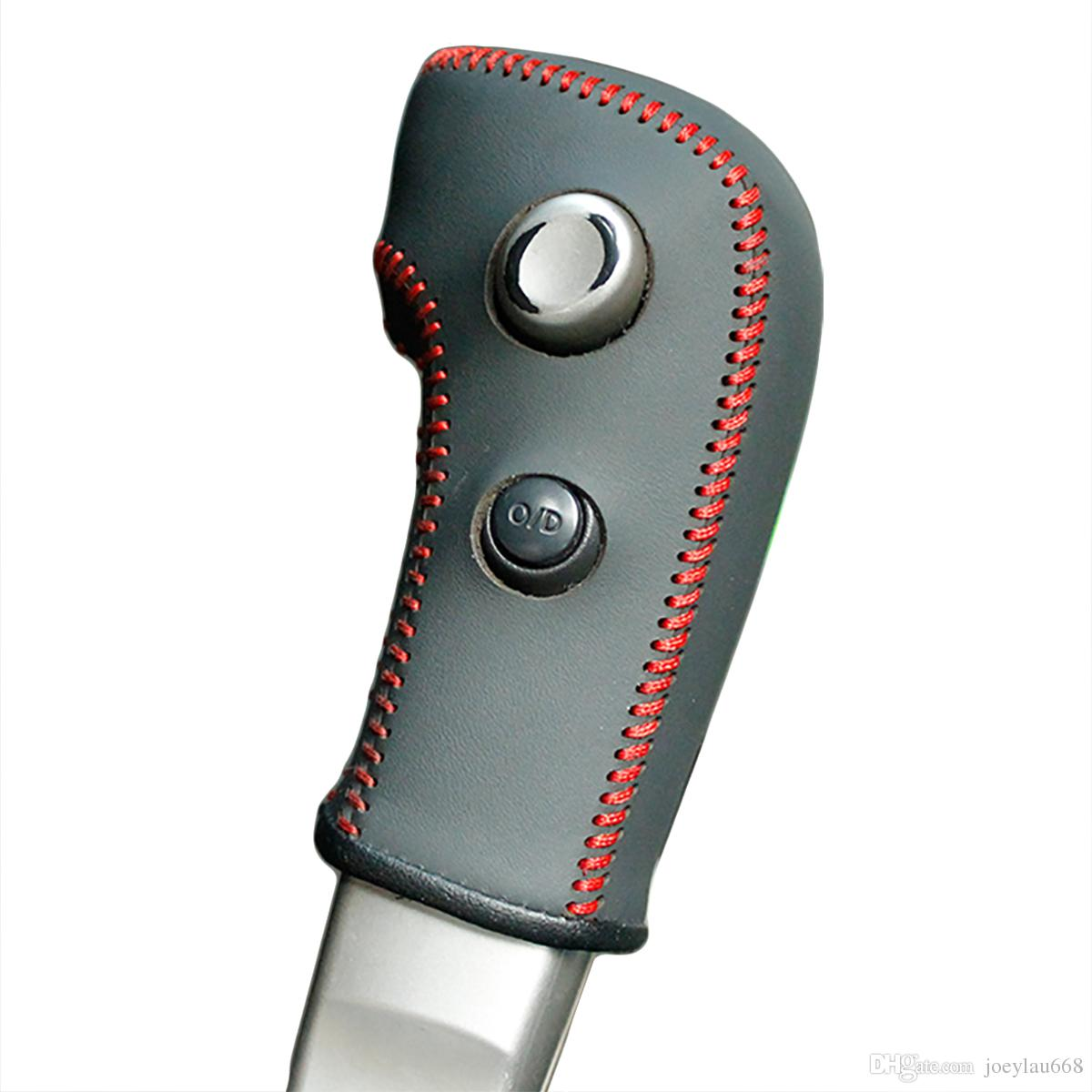 Корпус для Nissan Tiida, старая модель, автоматическая коробка передач. Ручка переключения передач. Чехол из натуральной кожи. Сделано в Японии.