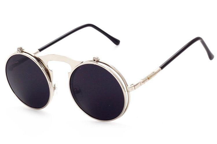 Erkekler Kadınlar Için güneş Gözlüğü Vintage Sunglases Mens Yüksek Kalite Sunglass Bayanlar Yuvarlak Güneş Gözlükleri Moda Unisex Tasarımcı Güneş Gözlüğü 3J0T57