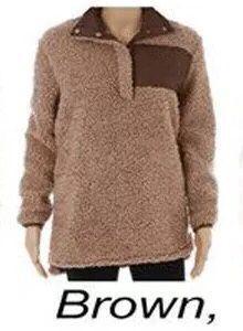 Großhandel Fuzzy Sherpa Pullover Mit Langen Ärmeln, Weichem Pullover Frauen Winter Outwea Personalisierten, Warmen Sherpa Mit Monogramm Fleece Sherpa