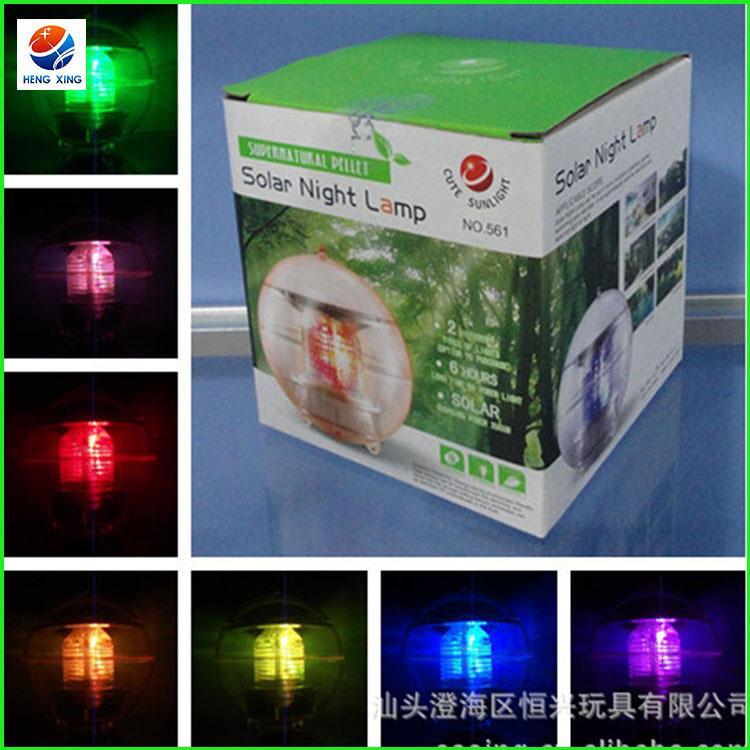 Lampe à eau solaire colorée LED / promotion de la lampe