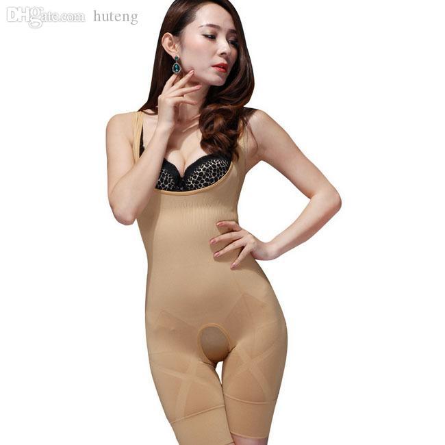 Toptan-Yeni Kadın Bayanlar Bambu Kömür Mikro-Fiber Şekillendirici Zayıflama Tam Korse Karın Düzeltici Vücut Suit Iç Çamaşırı Shapewear Q1110